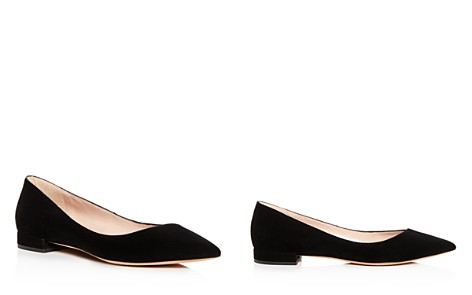 Giorgio Armani Women's Suede Pointed Toe Ballet Flats - Bloomingdale's_2