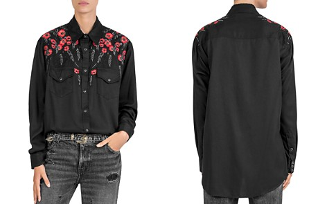 The Kooples Floral-Embroidered Shirt - Bloomingdale's_2