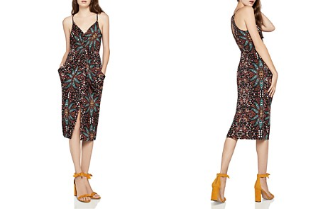 BCBGeneration Floral Paisley Twist-Front Dress - Bloomingdale's_2