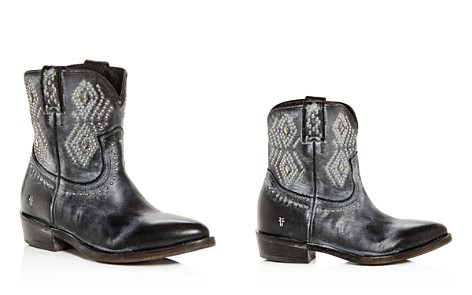 Frye Women's Billy Distressed Leather Low-Heel Western Boots - Bloomingdale's_2