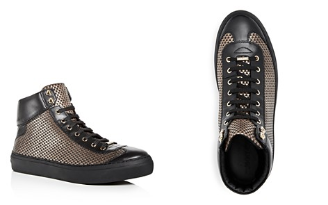 Jimmy Choo Men's Argyle Embossed Leather High Top Sneakers - Bloomingdale's_2