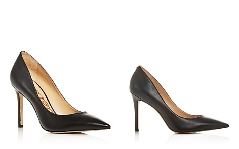 Sam Edelman Women's Hazel Leather Pointed Toe Pumps - Bloomingdale's_2