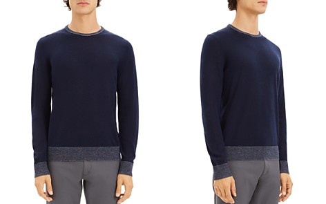 Theory Rothley Color-Block Merino Wool Crewneck Sweater - Bloomingdale's_2