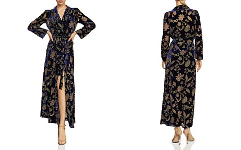 BCBGMAXAZRIA Velvet Floral Burnout Wrap Dress - Bloomingdale's_2