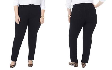 NYDJ Plus Marilyn Straight-Leg Jeans in Black - Bloomingdale's_2