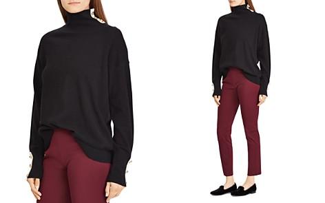 Lauren Ralph Lauren Cashmere Button-Trim Turtleneck - 100% Exclusive - Bloomingdale's_2