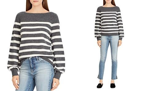 Lauren Ralph Lauren Striped Cashmere Blouson-Sleeve Sweater - 100% Exclusive - Bloomingdale's_2