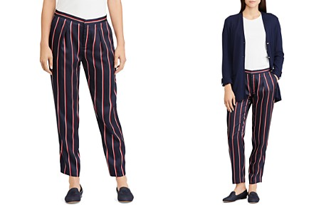 Lauren Ralph Lauren Pleated Stripe Pants - Bloomingdale's_2