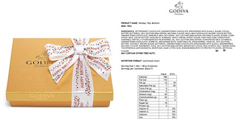Godiva® 19 Piece Happy Birthday Gold Gift Box - Bloomingdale's_2