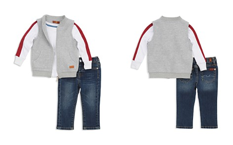 7 For All Mankind Boys' Quilted Vest, Striped Tee & Skinny Jeans Set - Baby - Bloomingdale's_2