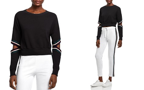 Michelle by Comune Orondo Cutout Cropped Sweatshirt - Bloomingdale's_2