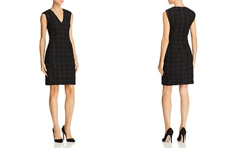 Alice + Olivia Adelaide Metallic Plaid Sheath Dress - Bloomingdale's_2
