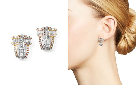 Bloomingdale's Diamond Statement Earrings in 14K White Gold, 14K Rose Gold & 14K Yellow Gold, 1.7 ct. t.w. - 100% Exclusive _2