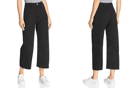 Free People Patti Crop Wide-Leg Jeans in Black - Bloomingdale's_2