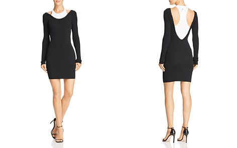 T by Alexander Wang Layered-Look Mini Dress - Bloomingdale's_2