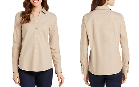 Foxcroft Chrissy Button Down Blouse - Bloomingdale's_2