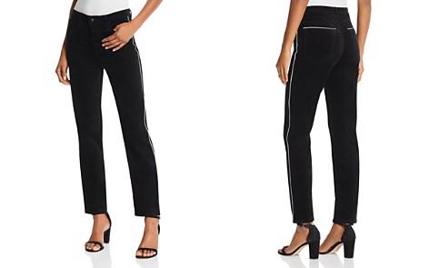 AG Isabelle Straight Velvet Jeans in Super Black - Bloomingdale's_2