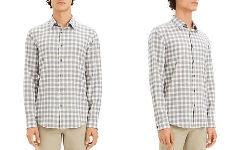 Theory Irving Gingham-Print Regular Fit Shirt - Bloomingdale's_2