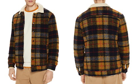 Scotch & Soda Teddy Faux Shearling-Trimmed Plaid Trucker Jacket - Bloomingdale's_2