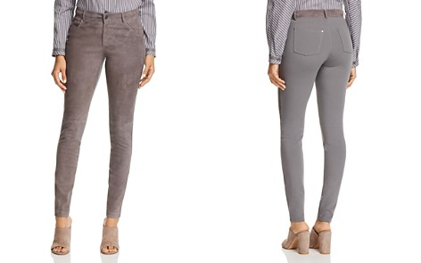 Lafayette 148 New York Mercer Suede-Front Skinny Pants - Bloomingdale's_2
