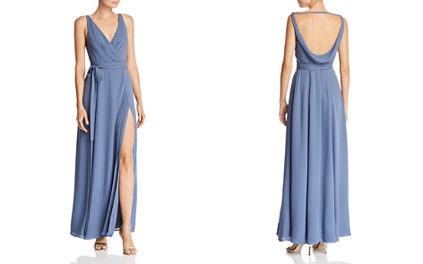 Fame and Partners Dinah Wrap Gown - Bloomingdale's_2