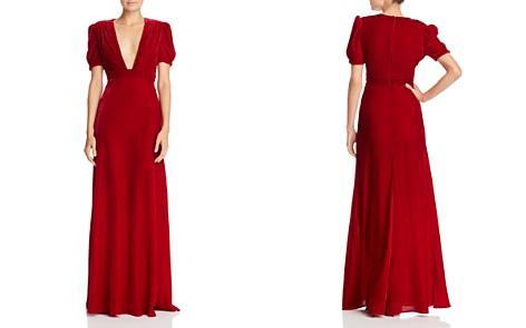 Jill Jill Stuart Plunging Velvet Gown - Bloomingdale's_2