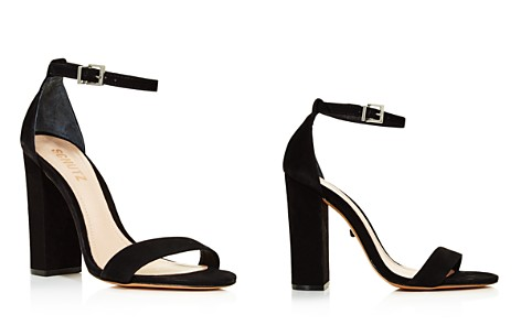 SCHUTZ Women's Enida Nubuck Leather High Block Heel Sandals - Bloomingdale's_2