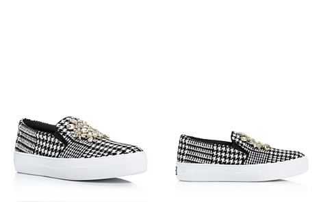 kate spade new york Women's Gizelle Embellished Houndstooth Slip-On Sneakers - Bloomingdale's_2