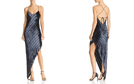 Michelle Mason Asymmetric Velvet-Stripe Gown - Bloomingdale's_2