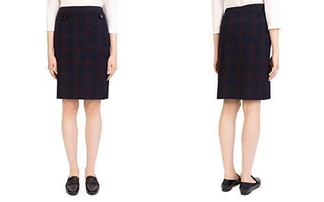 Gerard Darel Jules Plaid Button-Tab Pencil Skirt - Bloomingdale's_2