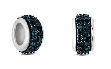 Links of London Sterling Silver Sweetie Pavé Blue Diamond Bead - Bloomingdale's_2