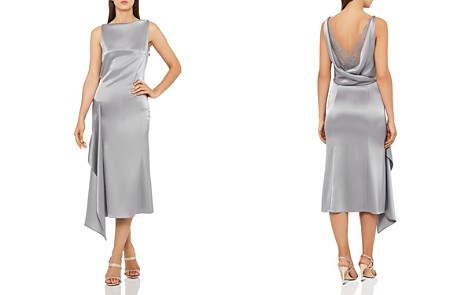 REISS Seren Draped Satin Dress - Bloomingdale's_2