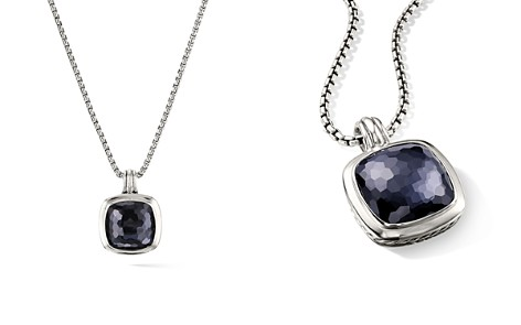 David Yurman Albion Pendant in Sterling Silver with Black Orchid - Bloomingdale's_2