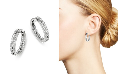 Bloomingdale's Diamond Inside Out Hoop Earrings in 14K White Gold, 2.0 ct. t.w. - 100% Exclusive_2