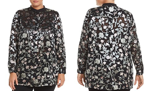 Lafayette 148 New York Plus Brayden Textured Floral Blouse - Bloomingdale's_2