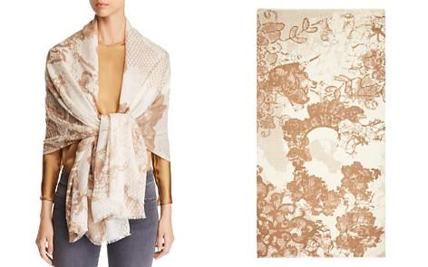 Max Mara Zeo Floral Lace-Print Scarf - Bloomingdale's_2