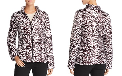 AQUA Packable Leopard Print Puffer Coat - 100% Exclusive - Bloomingdale's_2