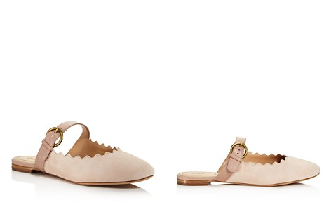 Chloé Women's Lauren Round Toe Suede & Leather Ballerina Flats - Bloomingdale's_2