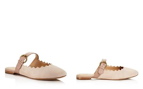 Chloé Women's Lauren Round Toe Suede & Leather Ballerina Flats - Bloomingdale's_2