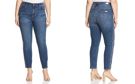 Seven7 Jeans Plus Embroidered-Trim Skinny Jeans in Alyx - Bloomingdale's_2