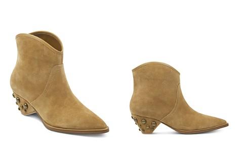 Marc Fisher LTD. Women's Rippa Suede Studded Heel Booties - Bloomingdale's_2
