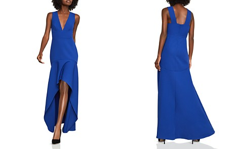 BCBGMAXAZRIA High/Low Crepe Gown - 100% Exclusive - Bloomingdale's_2
