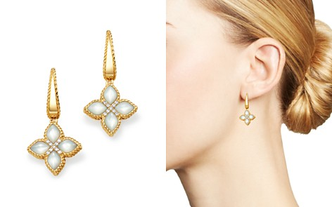 Roberto Coin 18K Yellow Gold Venetian Princess Diamond & Mother of Pearl Earrings - Bloomingdale's_2