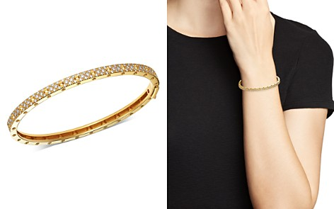 Roberto Coin 18K Yellow Gold Symphony Pois Moi Diamond Hinged Bangle Bracelet - Bloomingdale's_2