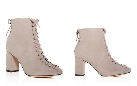 SCHUTZ Women's Aylaa Nubuck Leather High Block-Heel Booties - Bloomingdale's_2