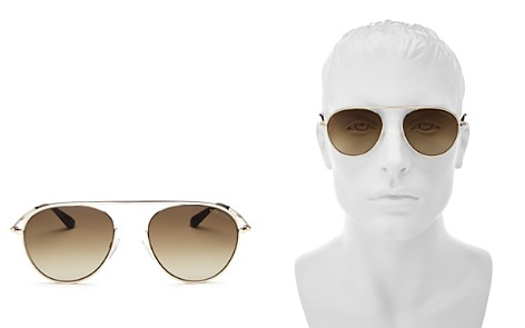 Tom Ford Men's Keith Brow Bar Aviator Sunglasses, 60mm - Bloomingdale's_2