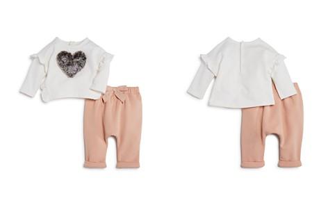 Miniclasix Girls' Faux-Fur-Heart Top & Textured Jogger Pants Set - Baby - Bloomingdale's_2