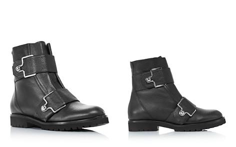 Bally Women's Gabiria Round Toe Leather & Fur Booties - Bloomingdale's_2