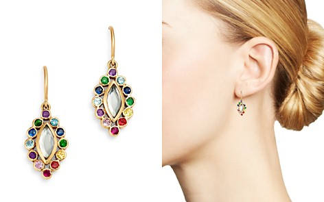 SheBee 14K Yellow Gold Sapphire, Blue Topaz, Amethyst & Tsavorite Rainbow Drop Earrings - Bloomingdale's_2