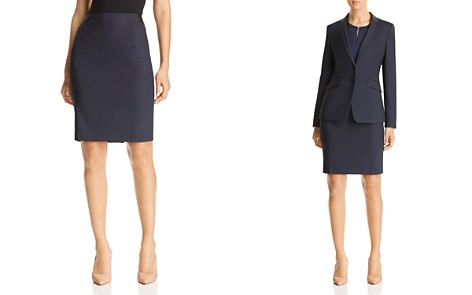 BOSS Veriba Mini-Check Pencil Skirt - Bloomingdale's_2